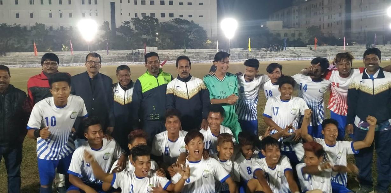 অনূর্ধ্ব ১৭ ছেলেদের ফুটবলে জয়ী ত্রিপুরা
