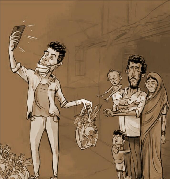 সাহায্য নাকি আত্মপ্রচার ? রাজস্থানে নিষিদ্ধ হল সেলফি তোলা আর প্রচার।
